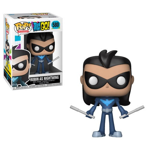 Nightwing Robin Teen Titans Go Pop <b>TV</b> Vinyl Figure..