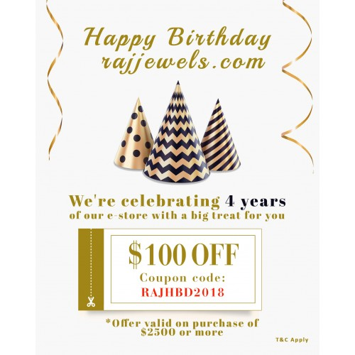 happy birthday rajjewels.com coupon gift